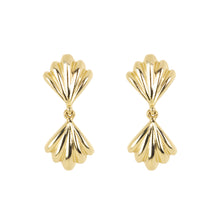 Load image into Gallery viewer, The Duo Shell-Earrings | Hortense Jewelry - yellow gold bridal earrings, designer bridal earrings, ethical gold earrings