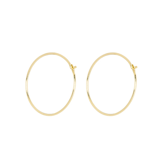 The sweet Angel Hair Hoops 14KYG PAIR | Hortense Jewelry - 14k yellow gold diamond earrings, round diamond earrings white gold, pure gold designer earrings