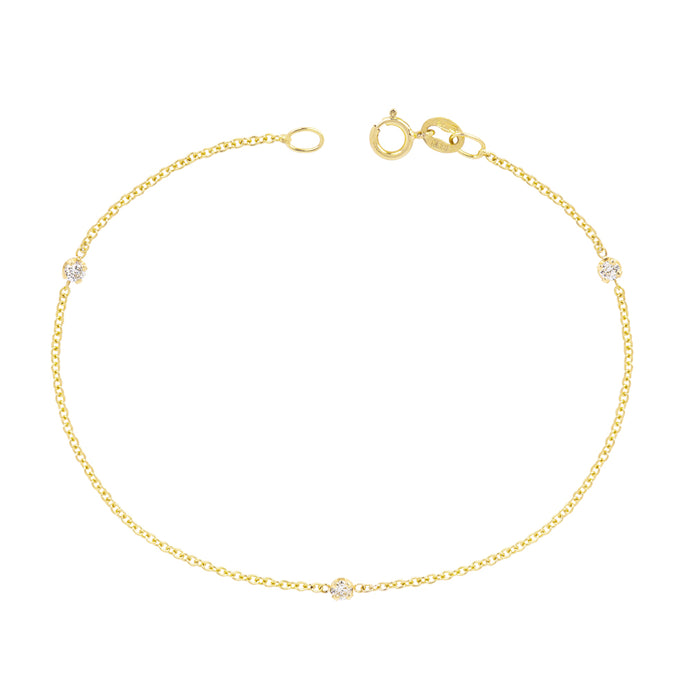 The Mini Mini Me Bracelet-Trio Diamonds