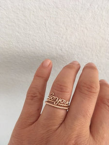 """Bonjour"" Ring 