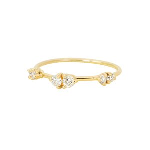 By your side Trio Ring | Hortense Jewelry - ethical diamond rings, delicate designer rings, designer gold rings