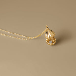 The Secret Shell box Necklace | Hortense Jewelry - affordable designer necklaces, handcrafted ethical necklaces, exquisite gold necklace