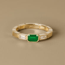 Load image into Gallery viewer, The Eternity Ring-Emerald+Diamonds | Hortense Jewelry - ethically sourced wedding rings, conflict free wedding rings, ethically sourced wedding bands, conflict free wedding bands
