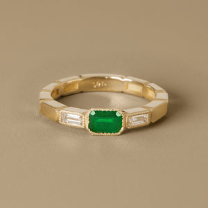 The Eternity Ring-Emerald+Diamonds