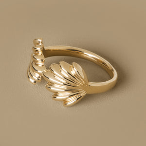The Mishell Ring | Hortense Jewelry - cruelty free gold rings, exclusive designer gold rings, pure gold designer rings
