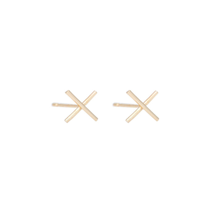 Kiss-Kiss studs 14KRG | Hortense Jewelry - yellow gold bridal earrings, designer bridal earrings, ethical gold earrings