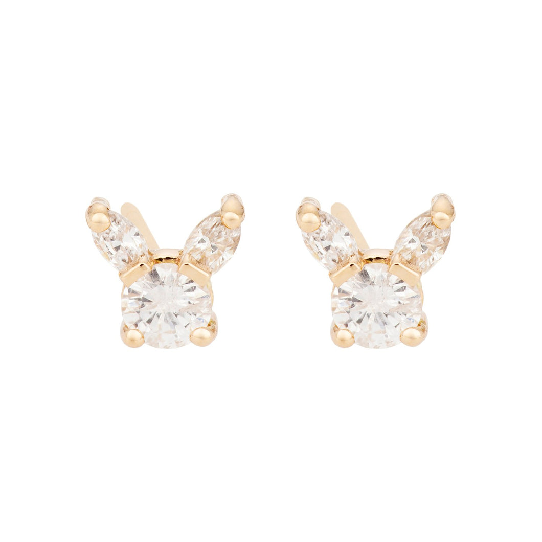 """Kitty"" All diamonds -Earring"