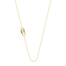Load image into Gallery viewer, Paper Clip necklace | Hortense Jewelry - handmade designer necklaces, designer gold necklaces, designer bridal necklaces, delicate gold necklaces