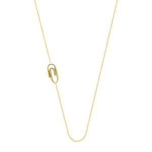 Paper Clip necklace | Hortense Jewelry - handmade designer necklaces, designer gold necklaces, designer bridal necklaces, delicate gold necklaces