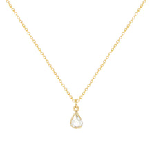 Load image into Gallery viewer, Tear of joy-New- | Hortense Jewelry - 14k yellow gold diamond pendant necklace, diamond heart pendant 14k yellow gold, diamond heart necklace rose gold, white gold teardrop necklace