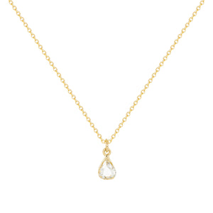 Tear of joy-New- | Hortense Jewelry - 14k yellow gold diamond pendant necklace, diamond heart pendant 14k yellow gold, diamond heart necklace rose gold, white gold teardrop necklace