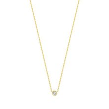 Load image into Gallery viewer, Flirty necklace-White diamond | Hortense Jewelry - handmade designer necklaces, designer gold necklaces, designer bridal necklaces, delicate gold necklaces