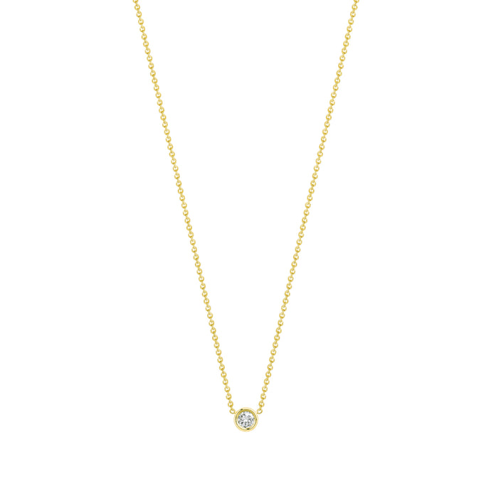 Flirty necklace-White diamond | Hortense Jewelry - 14k yellow gold diamond pendant necklace, diamond heart pendant 14k yellow gold, diamond heart necklace rose gold, white gold teardrop necklace