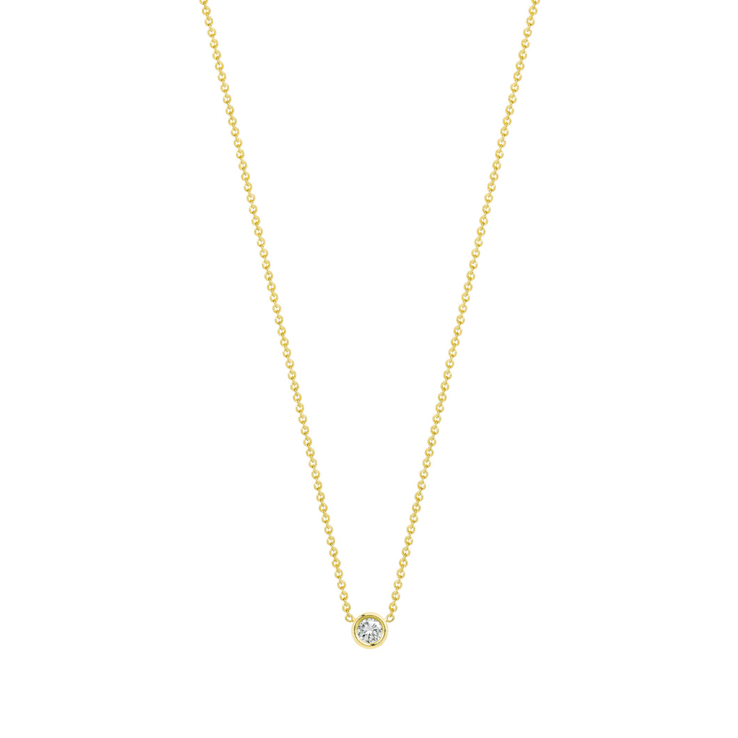 Flirty necklace-White diamond | Hortense Jewelry - handmade designer necklaces, designer gold necklaces, designer bridal necklaces, delicate gold necklaces