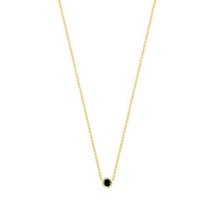 Flirty necklace-black diamond | Hortense Jewelry - handmade women's jewelry, ethical women's jewelry, handmade gold jewelry