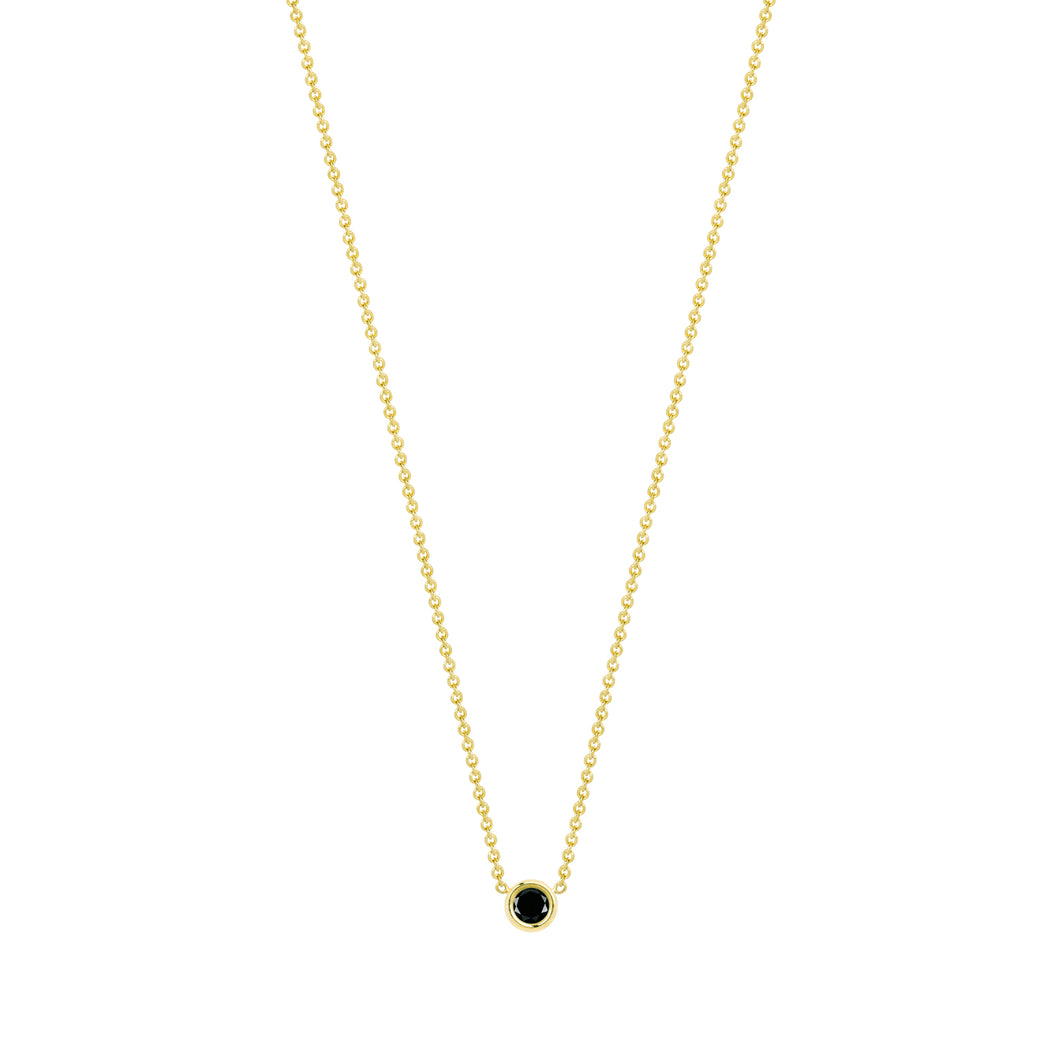 Flirty necklace-black diamond | Hortense Jewelry - delicate handcrafted jewelry, ethical gold designer jewelry, ethically sourced designer jewelry