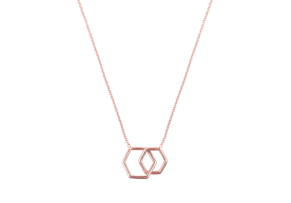 Together-Hexagon rose gold 14k 16