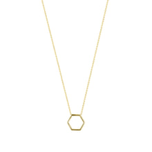 Load image into Gallery viewer, By Myself-Hexagon | Hortense Jewelry - handmade designer necklaces, designer gold necklaces, designer bridal necklaces, delicate gold necklaces