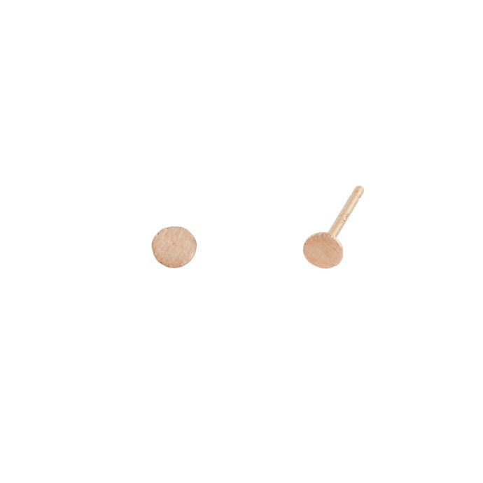 Small Moon | Hortense Jewelry - 14k yellow gold diamond earrings, round diamond earrings white gold, pure gold designer earrings