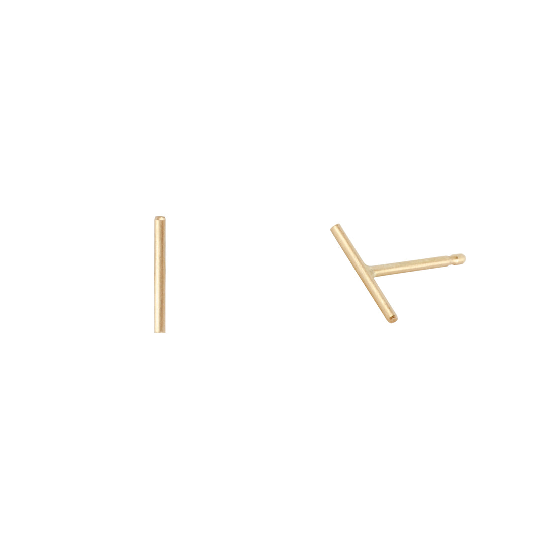 Bamboo earrings | Hortense Jewelry - yellow gold bridal earrings, designer bridal earrings, ethical gold earrings