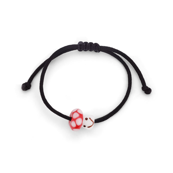 Mushroom-Cord Bracelet and necklace