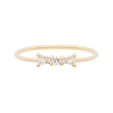 Load image into Gallery viewer, The Little Bow Ring | Hortense Jewelry - ethical diamond rings, delicate designer rings, designer gold rings