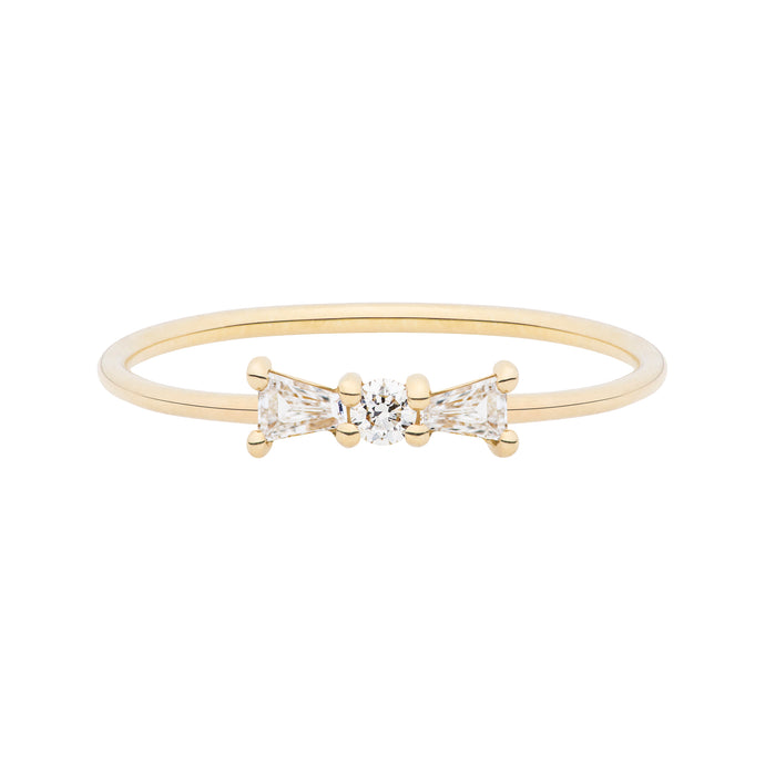 The Little Bow Ring | Hortense Jewelry - ethical diamond rings, delicate designer rings, designer gold rings