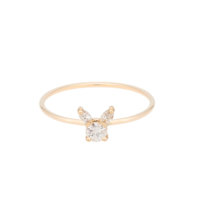 "The ""Kitty"" ring 14KYG SIZE 4.5 