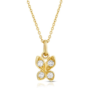 "Small ""Butterfly"" Necklace with Diamonds"