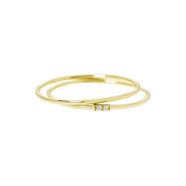 The Set of 2 Rings | Hortense Jewelry - handcrafted 14k gold ring, exquisite 14k gold ring, minimalist 14k gold ring