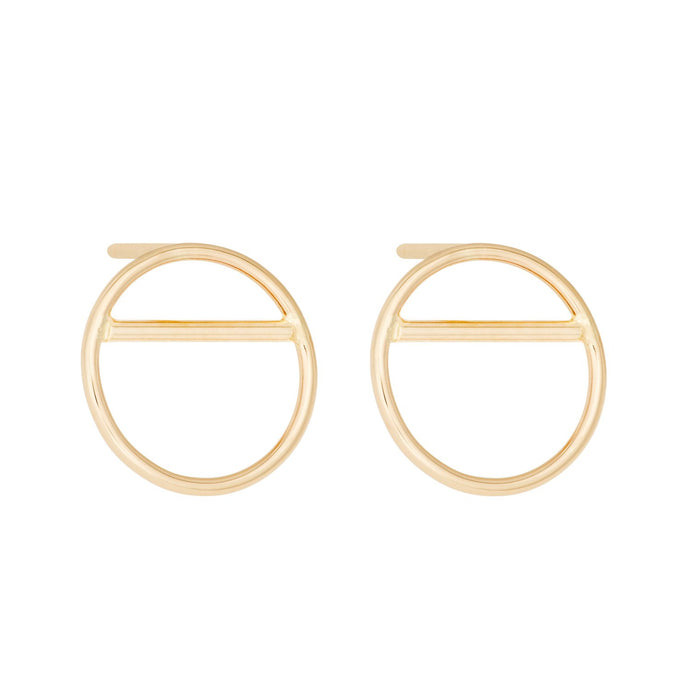 "Small ""O-Balance""-Earring without diamond SINGLE 14KYG 