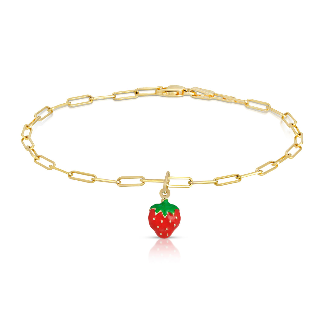 The strawberry Bracelet-Link Chain Bracelet-Website exclusive