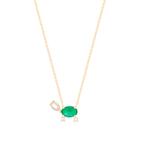 "Load image into Gallery viewer, ""The ""Lucky Turtle"" Necklace 14KYG 16"" 