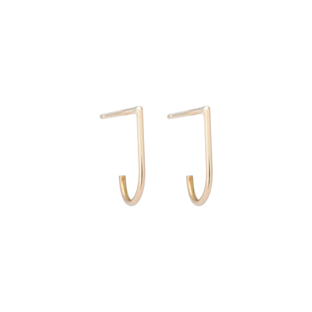 The Flat Hoop-earring 14KYG Pair | Hortense Jewelry - yellow gold bridal earrings, designer bridal earrings, ethical gold earrings