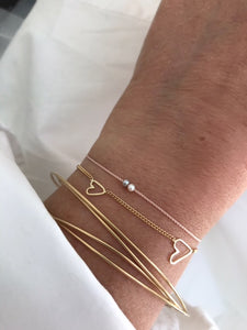 "The ""Two Souls/Two hearts""-solid gold bracelet"
