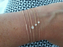 Load image into Gallery viewer, Flirty bracelet extra white diamond | Hortense Jewelry - custom handmade bracelets, beautiful handmade bracelets, handmade bracelets and necklaces