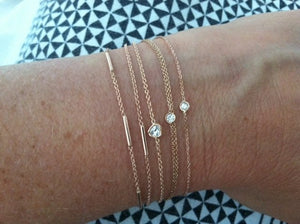 Flirty bracelet extra white diamond | Hortense Jewelry - custom handmade bracelets, beautiful handmade bracelets, handmade bracelets and necklaces