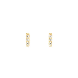 Tic Tac earrings with diamonds