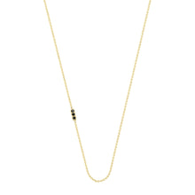 Load image into Gallery viewer, Tic Tac necklace with diamond | Hortense Jewelry - affordable designer necklaces, handcrafted ethical necklaces, exquisite gold necklace