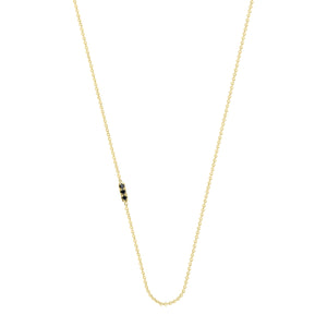 Tic Tac necklace with diamond | Hortense Jewelry - affordable designer necklaces, handcrafted ethical necklaces, exquisite gold necklace