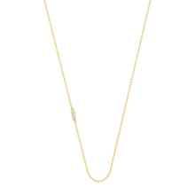 Load image into Gallery viewer, Tic Tac necklace with diamond | Hortense Jewelry - handmade designer necklaces, designer gold necklaces, designer bridal necklaces, delicate gold necklaces