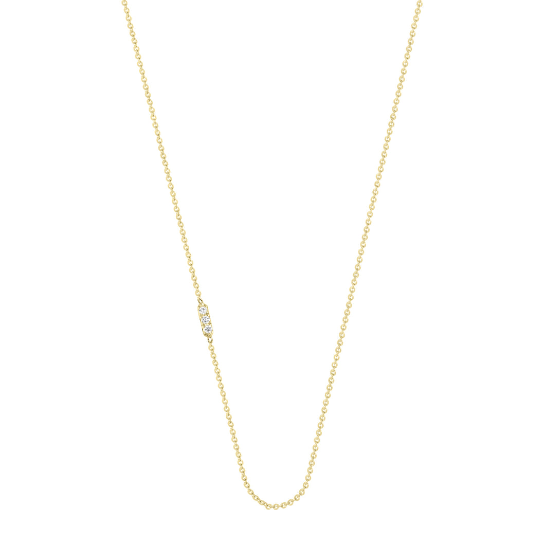 Tic Tac necklace with diamond | Hortense Jewelry - 14k yellow gold diamond pendant necklace, diamond heart pendant 14k yellow gold, diamond heart necklace rose gold, white gold teardrop necklace