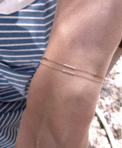 Bamboo bracelet-single bar | Hortense Jewelry - custom handmade bracelets, beautiful handmade bracelets, handmade bracelets and necklaces