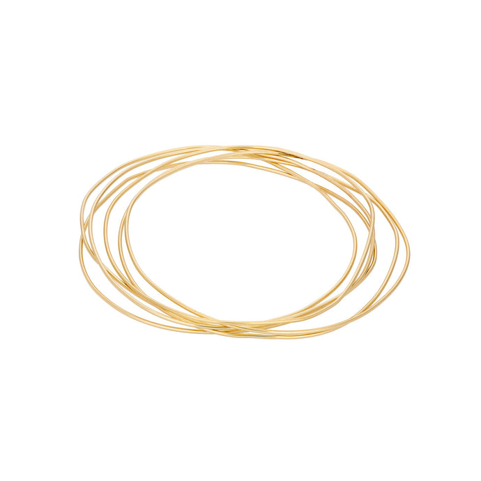 "Unshapped ""Spaghettis"" Bangle SINGLE 14KYG 6"