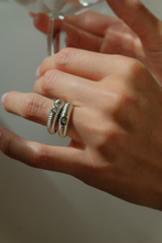 "Load image into Gallery viewer, The ""Textured Egg"" Ring-Double Signet-From $264 in Sterling Silver"