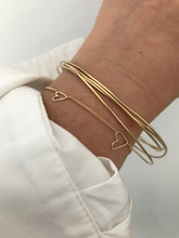 "Load image into Gallery viewer, The ""Two Souls/Two hearts""-solid gold bracelet"