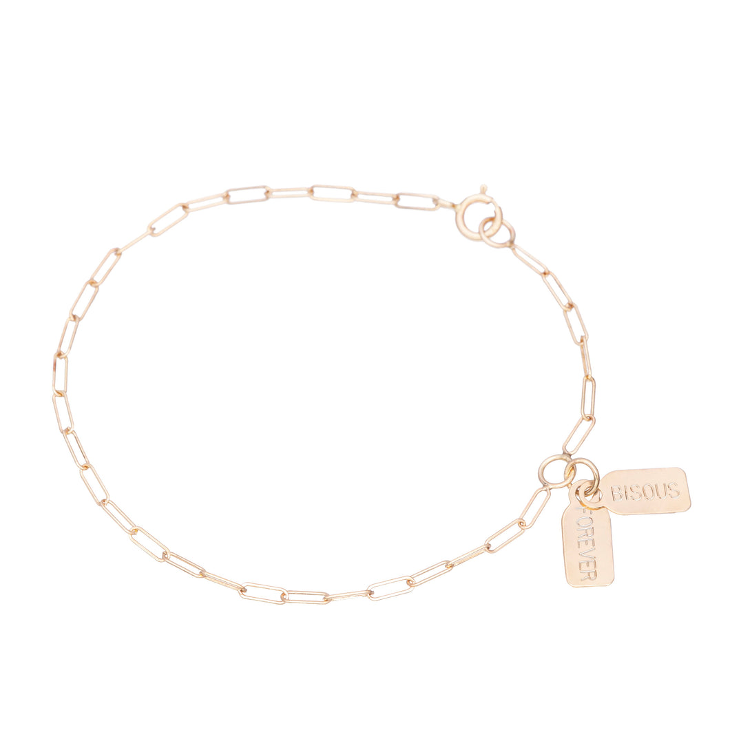 Selected for Valentine's Day 2019/Double Tag bracelet-Chain Each Other