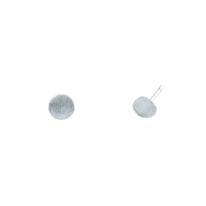 Large flat Moon earrings-silver