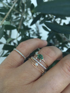 The Link Chain ring | Hortense Jewelry - ethical engagement rings, conflict free engagement rings, ethically sourced engagement rings, handmade designer rings