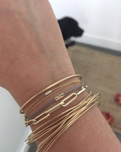 Load image into Gallery viewer, The Mama Link bracelet 14K Yellow Gold | Hortense Jewelry - custom handmade bracelets, beautiful handmade bracelets, handmade bracelets and necklaces